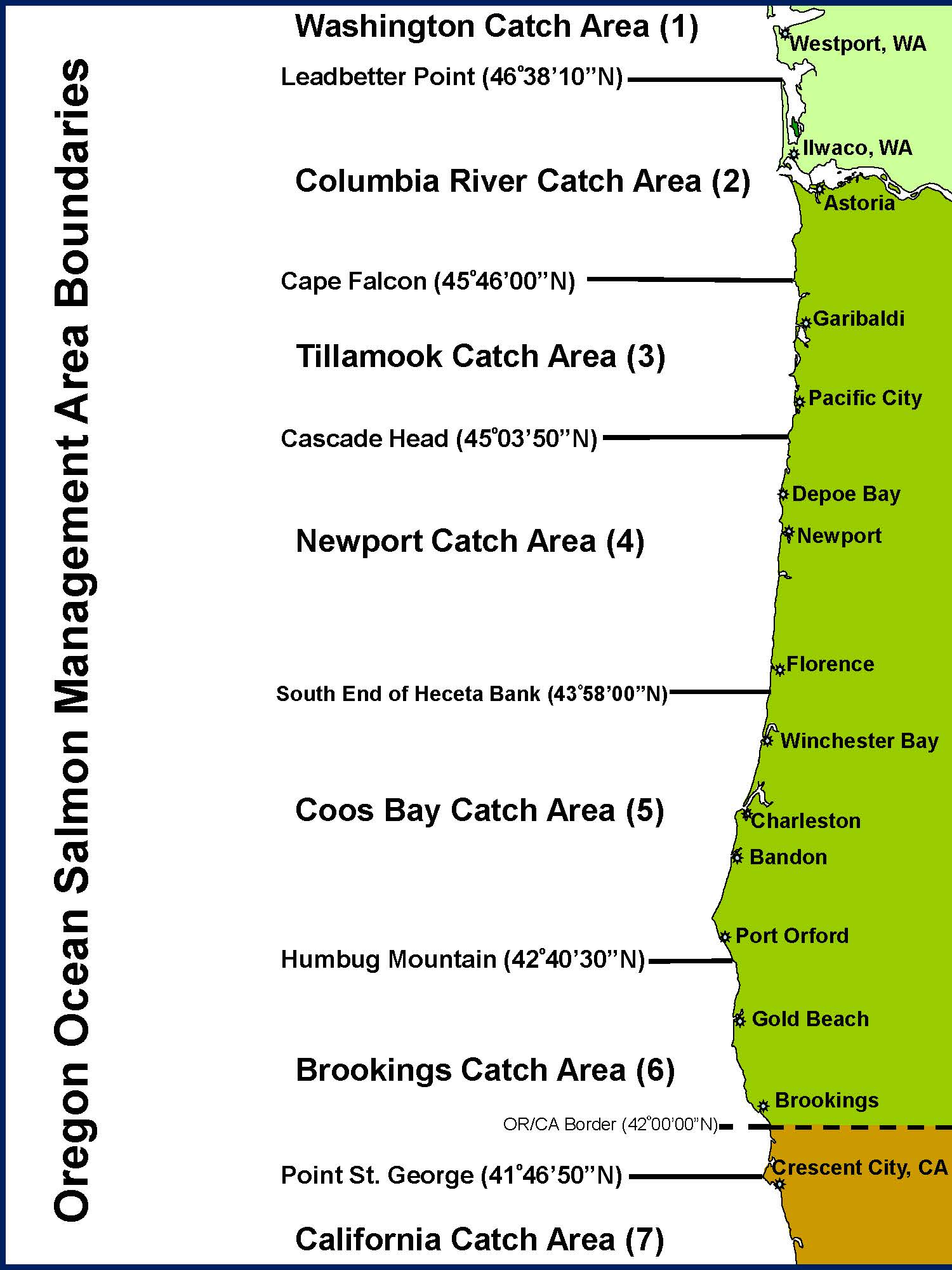 Odfw ocean salmon catch areas for Oregon fishing license price