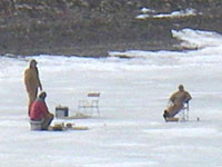 Ice Fishing at Paiute Reservoir