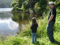 Fishing - Daughter and Father Fishing 