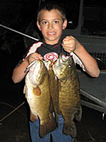 A boy with a String of Bass