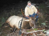 David Welch with elk