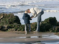Father and son at the tide pools - Photo by Kathy Munsel