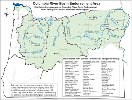 Odfw Lower Mainstem Columbia River Fisheries Management Reform Archives - Columbia-river-map-us