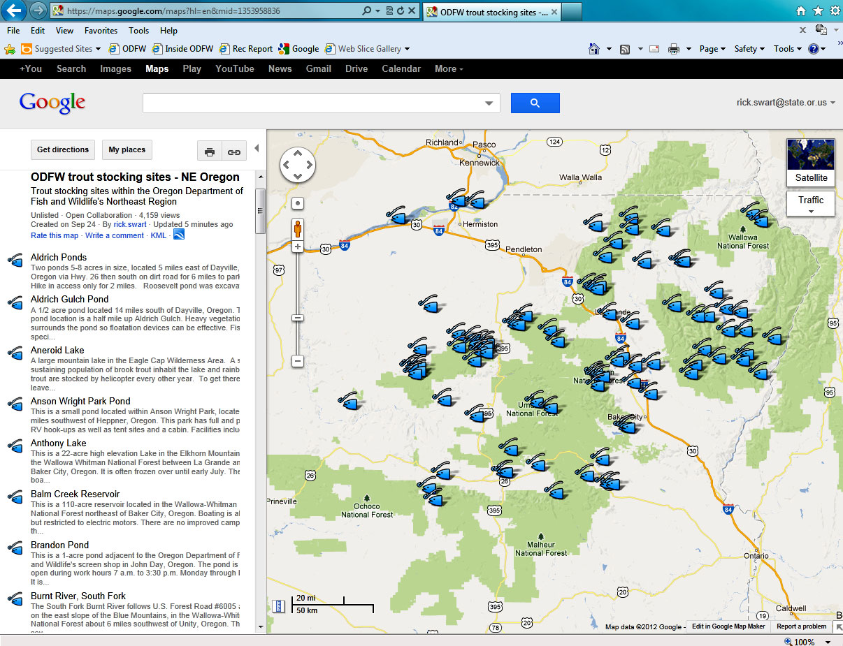 Unity Oregon Map.Interactive Map Directs Anglers To Ne Oregon Fishing Locales