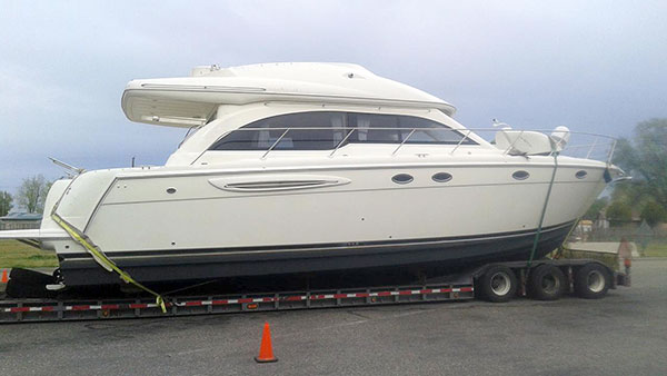 Zebra mussels were attached to this yacht from Tennessee