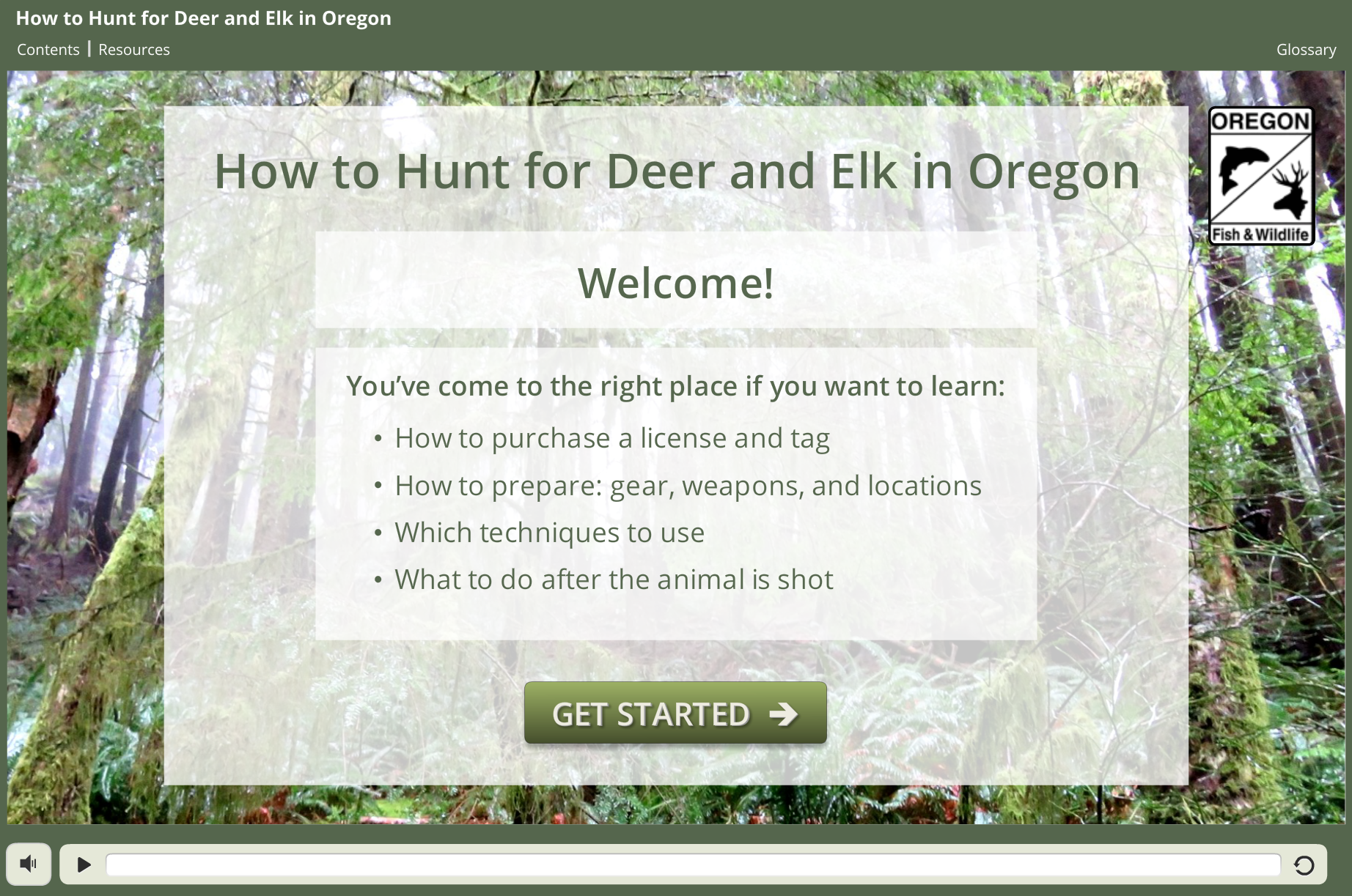 Learn to big game hunt with new odfw osu online course for Oregon fishing license fees