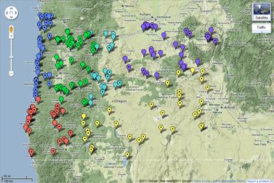 odfw wildlife viewing map